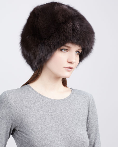 Fox Fur Hat, Brown