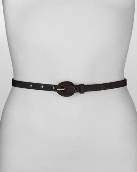 Classic Skinny Belt, Black