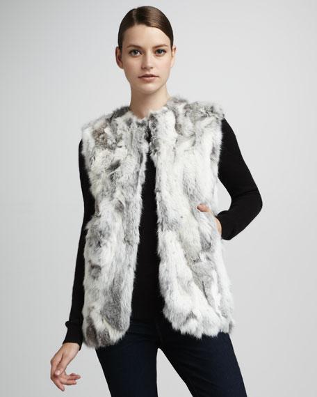 Textured Rabbit Fur Vest