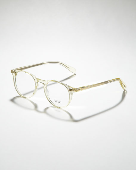 Riley Fashion Glasses, Beige Crystal