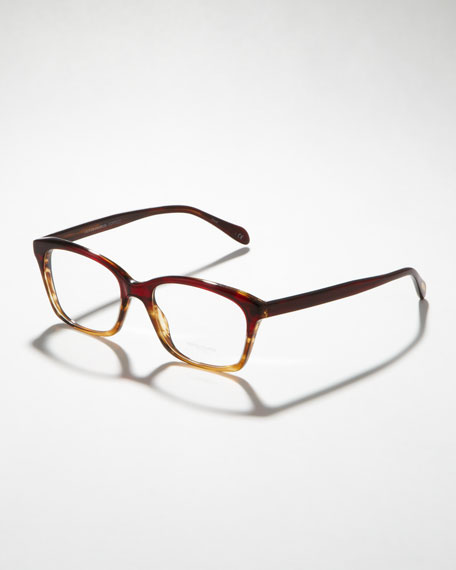 Fashion Glasses, Red/Tortoise