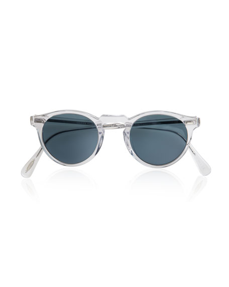 Gregory Peck Glasses, Crystal/Indigo