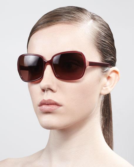 Francisca Square Sunglasses, Blush