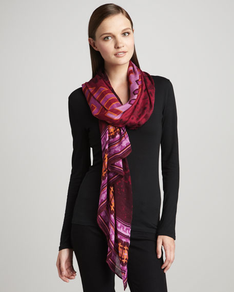 Aspen Voile Scarf, Berry