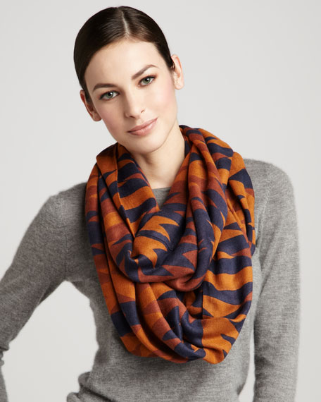 Jackson Hole Infinity Scarf, Burnt Orange
