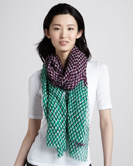 Snake Wire-Print Hanover Scarf