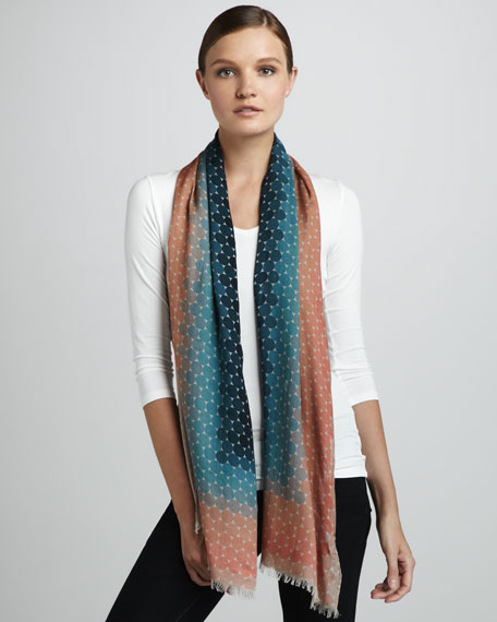 Ombre Modal Scarf, Pink/Teal