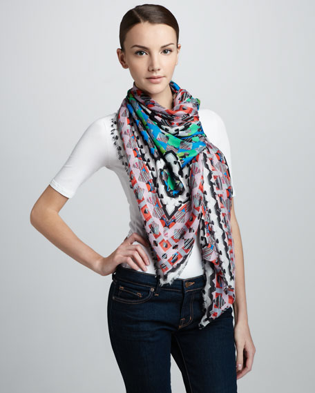 Geometric Shapes Cashmere Scarf