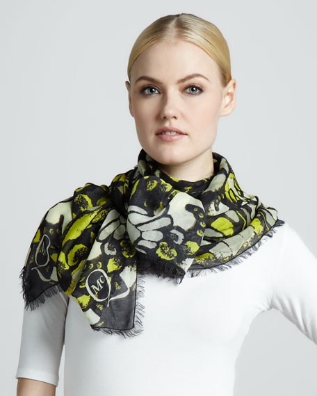 Butterfly Camo Printed Scarf