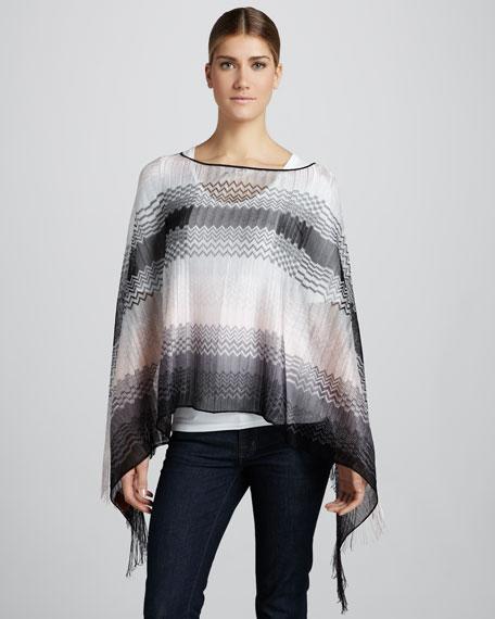 Lightweight Zigzag Knit Poncho