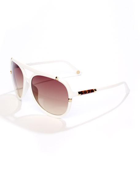Jemma Studded Aviator Sunglasses