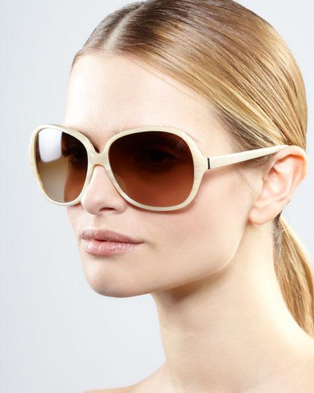 AERIN Isobel Sunglasses, Off White