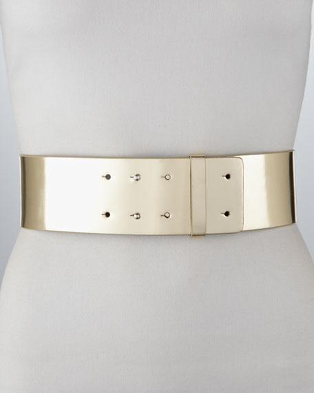 Jill Wide Mirrored Leather Belt