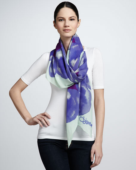 Ink Bomb Valencia Scarf, Purple/Mint