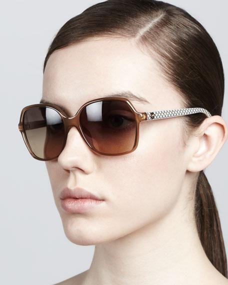 Printed-Arm Sunglasses