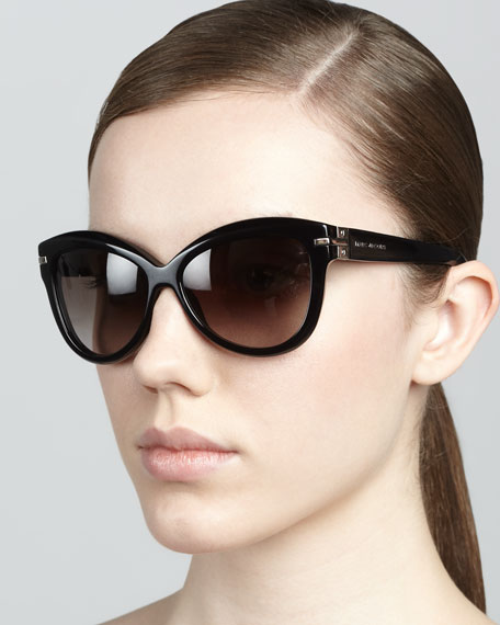 150f3d6509d6 Marc Jacobs Rounded Cat-Eye Sunglasses, Black