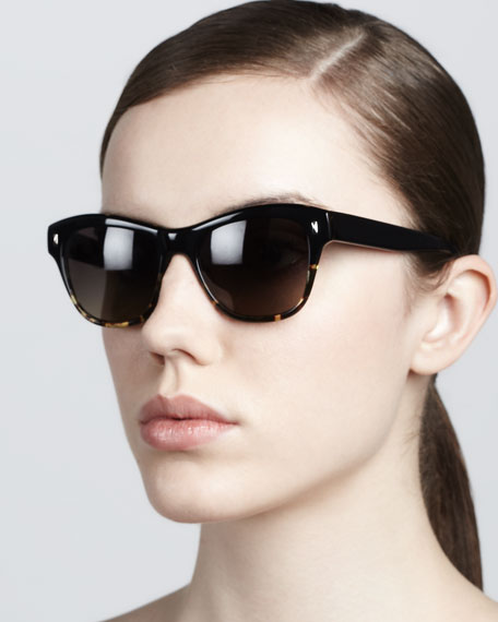 Sofee Rounded Sunglasses, Black