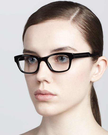 Rectangular Fashion Glasses, Black