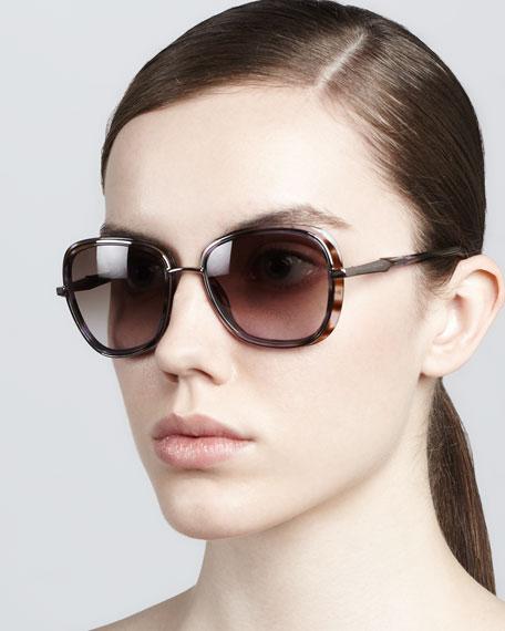 Butterfly Sunglasses, Purple/Brown