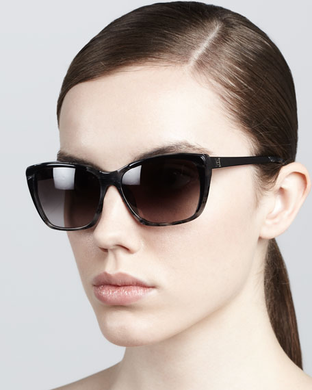 Modified Resin Sunglasses, Gray