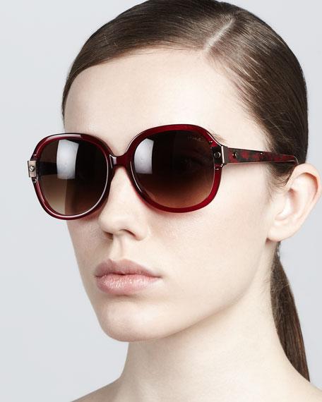 Round Sunglasses, Red