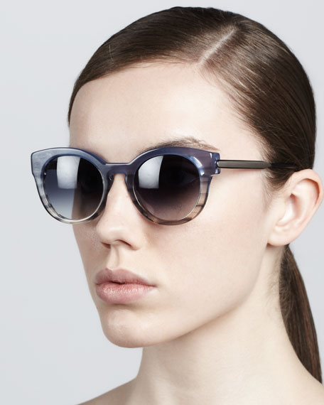 Magnety Round Sunglasses, Blue