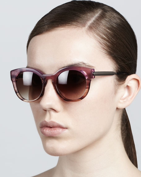 Magnety Round Sunglasses, Pink