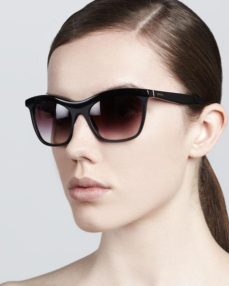 Defined-Bridge Sunglasses, Black