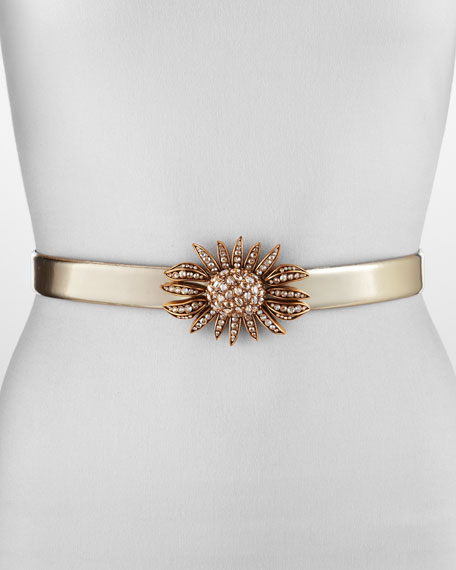 Jeweled Sunflower Belt, Gold