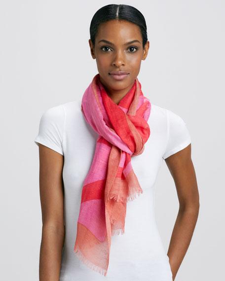 Reva Printed Scarf, Pink
