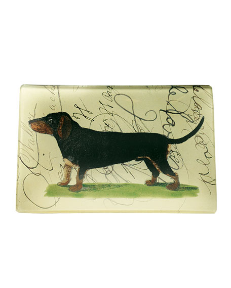 Dachshund with Script Tray