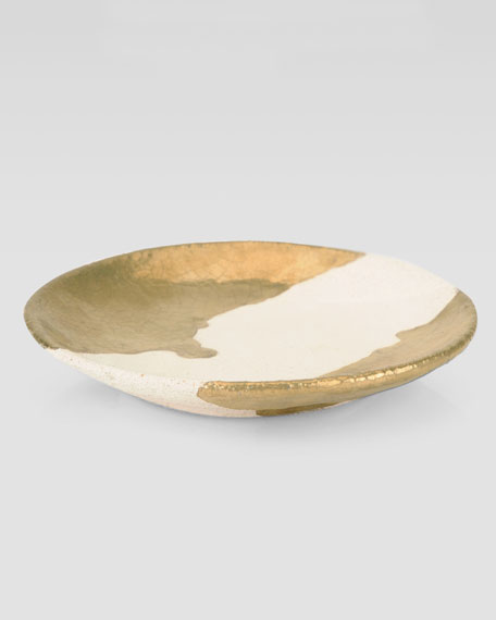 Metallic-Gold Drip Dish
