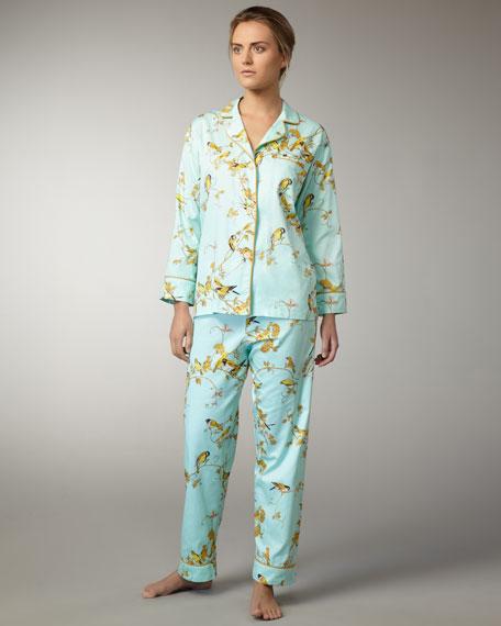 Canary-Print Classic Pajamas