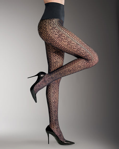 Luxe Lace Stripe Tights