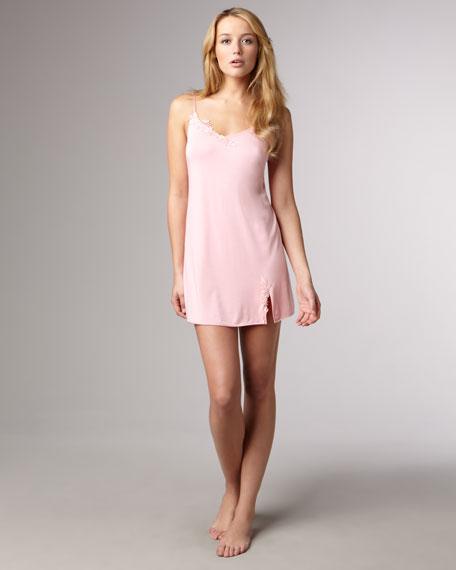 Lace-Trim Chemise, Pink