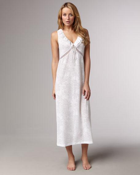 Long Ruffled Gown