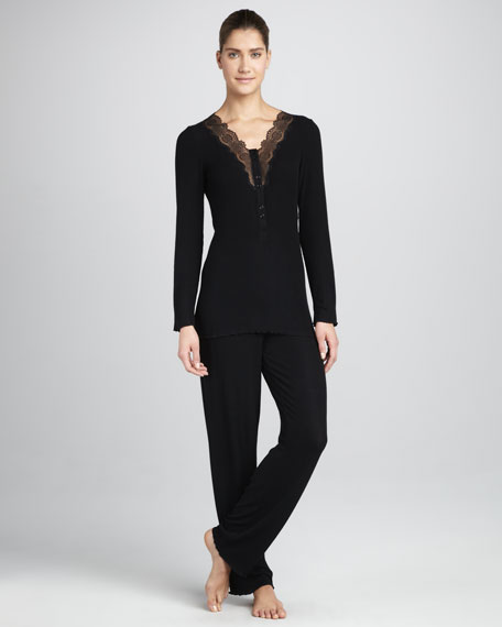 Costina Lace-Trim Pajamas