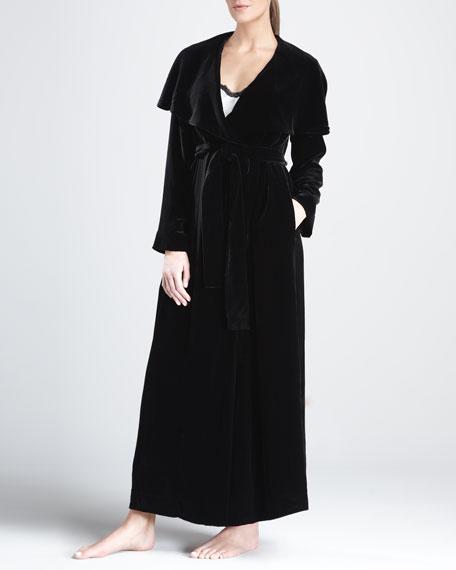 Glamor Velvet Robe, Black