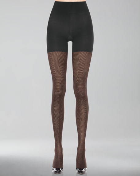 Patterned Tight-End Tights, Illusion Stripe