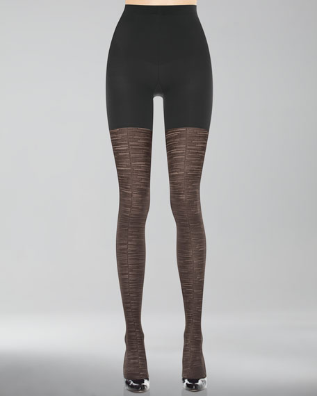 Patterned Tight-End Tights, Sweater Stripe