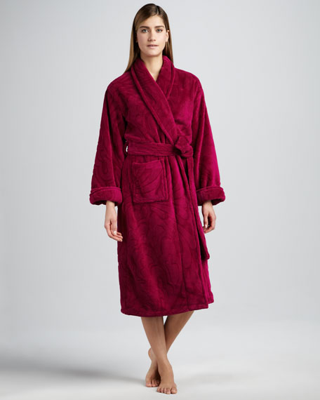 Plush Floral Robe, Dhalia