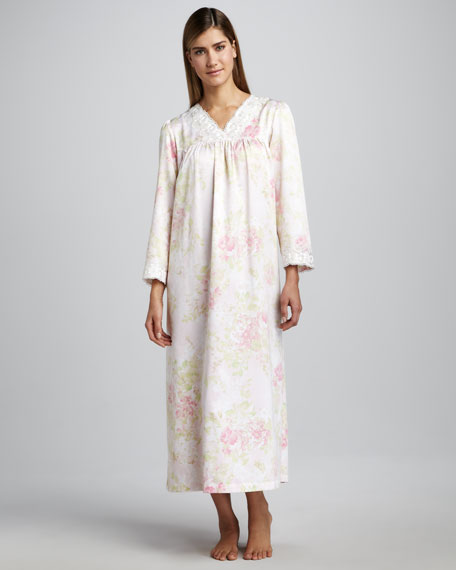 Field of Roses Long Printed Gown