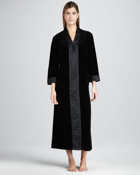 Jewel Tapestry Velvet Zip Robe