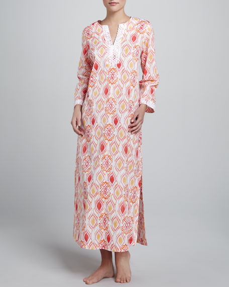 Ikat Medallion Long Caftan