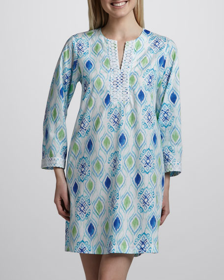 Ikat-Medallion Caftan, Short