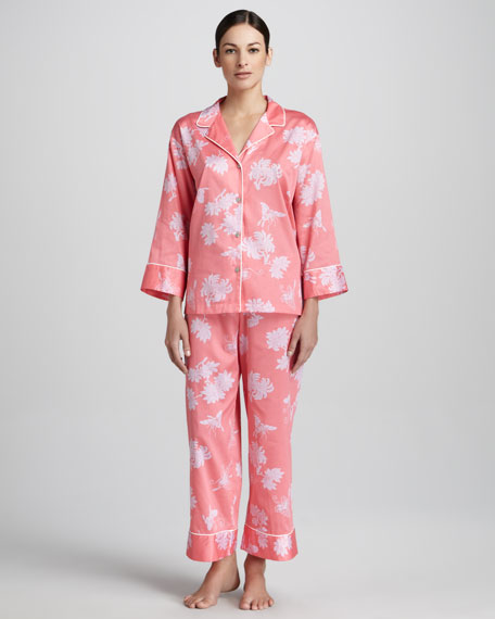 Suzhou Woven Pajamas, Coral
