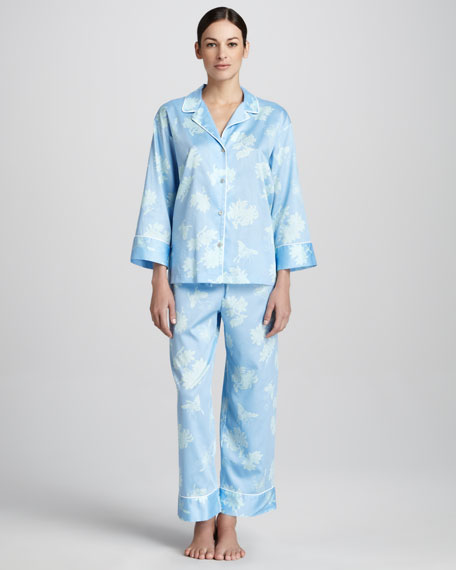 Suzhou Woven Pajamas, Bluebell
