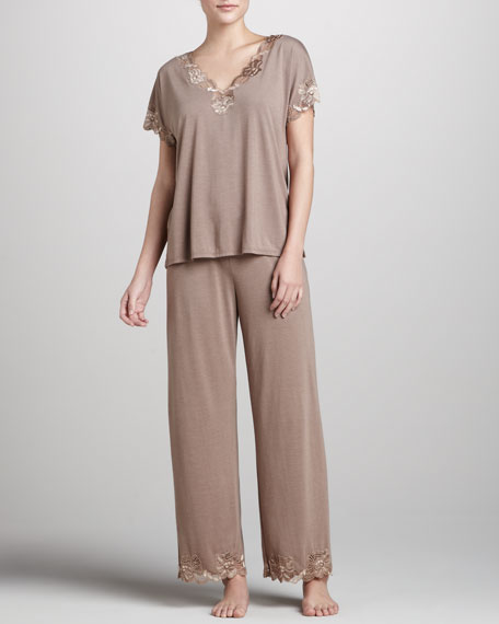 Zen Lace-Trim Pajamas
