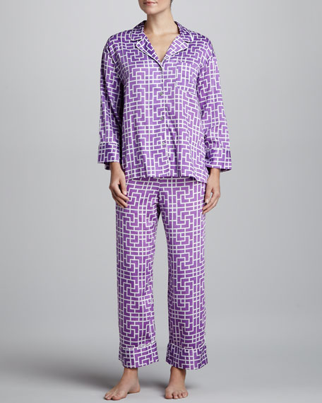 Ming Printed Sateen Pajamas