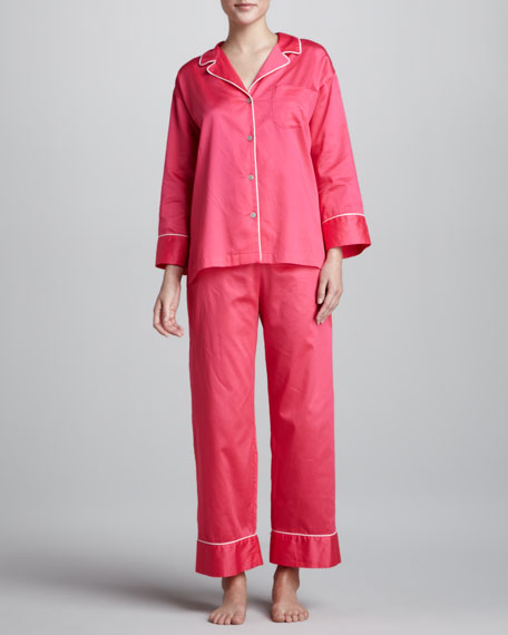 Essence Sateen Pajamas, Azalea Pink